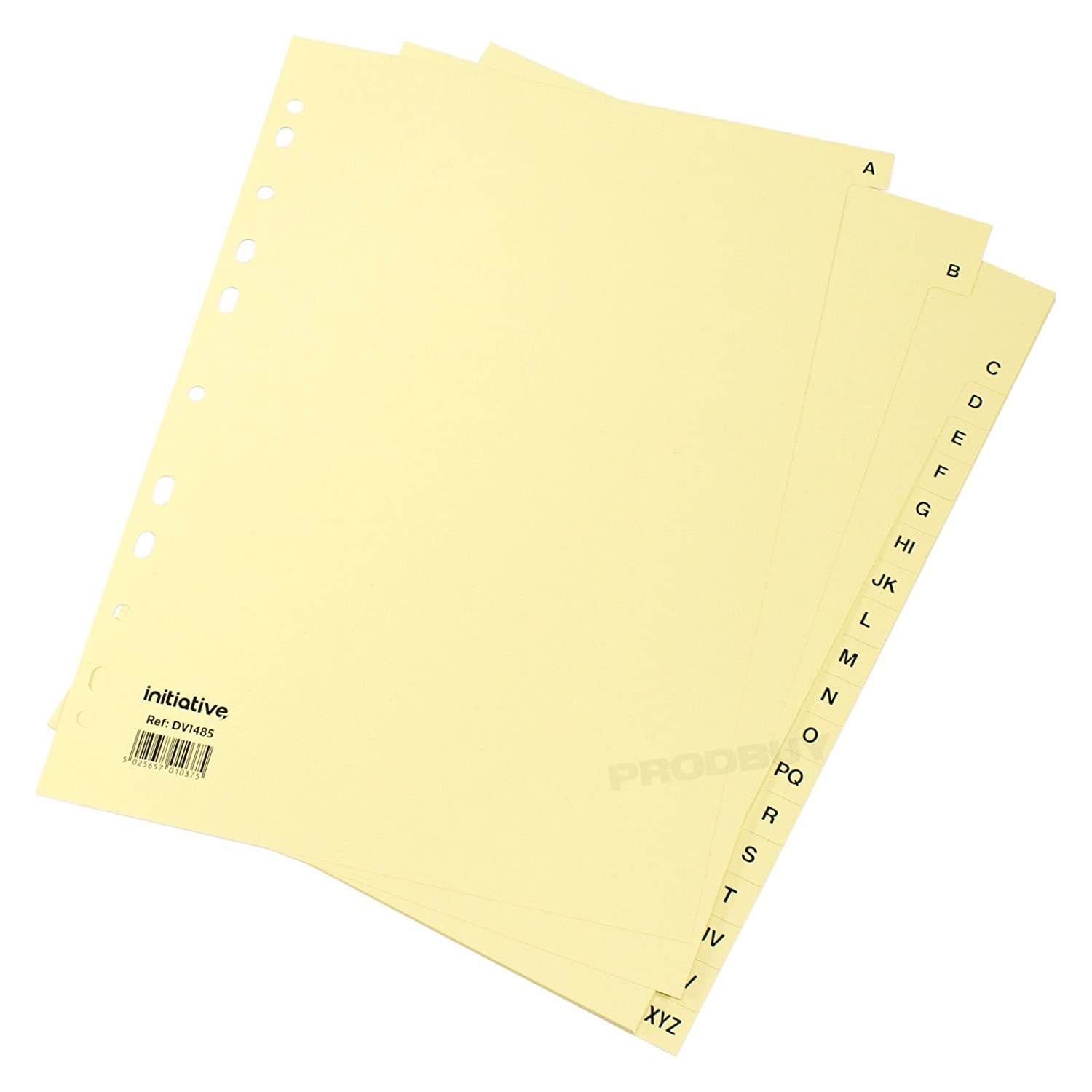 [Box of 15] A4 Vanilla A-Z Tabs Ring Binder File Index Dividers Subject Folder Cards
