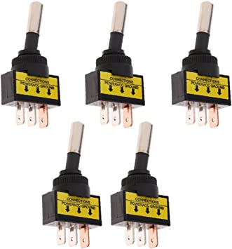 20 amp Toggle Switches 4 BBT Brand Heavy Duty On//Off 12 volt