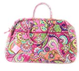 Vera Bradley Grand Traveler in Pink Swirls with Pink Interior