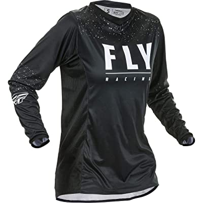 Fly Racing 2020 Women's Lite Jersey (Medium) (Black/White): Automotive