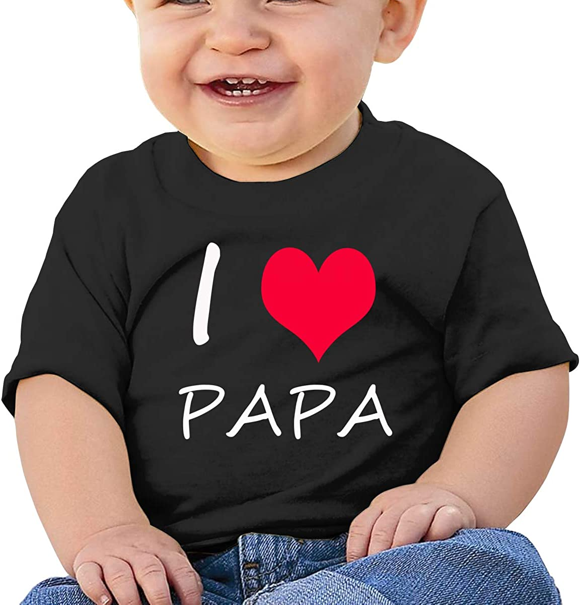 Boys Girls I Love My Papa Baby T Shirt Short Sleeve Tops