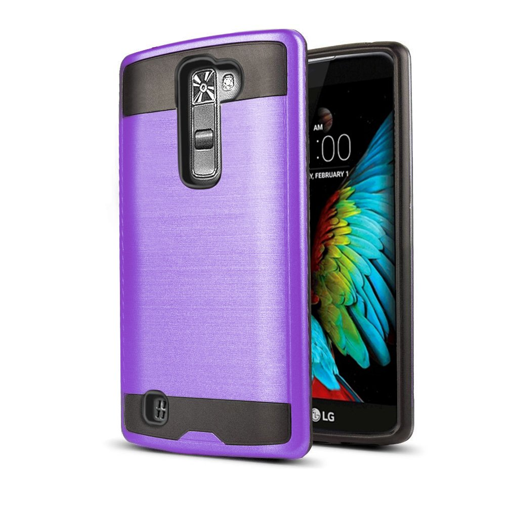 LG K10 Case, LG Premier LTE Case, Kaesar Premium Dustproof Shockproof Drop Resistance Rugged Hybrid Dual Layer Armor Protective Case Cover for LG K10 / LG Premier LTE - Purple