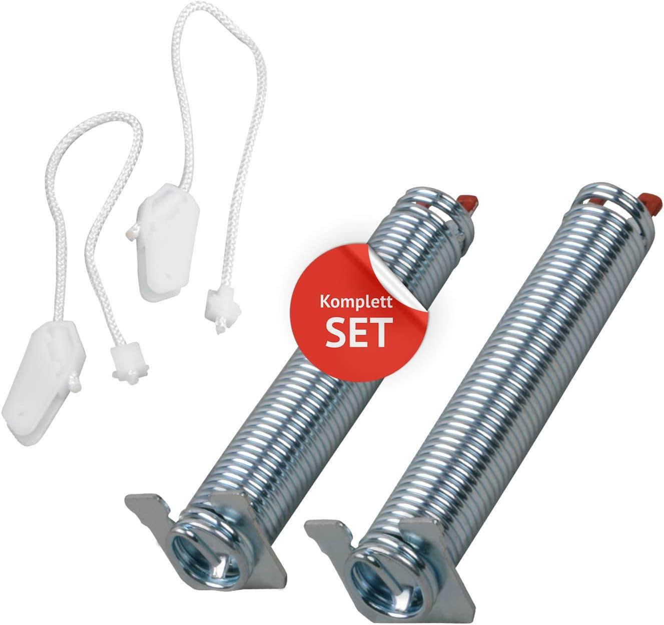 2 Resortes de bisagra de puerta con cuerda, repuesto para Bosch 00754866, Siemens 754866, Neff Constructa y juego de reparación de lavavajillas, código de color rojo para lavavajillas