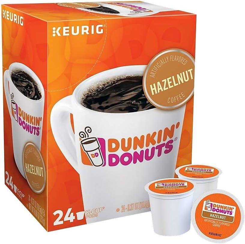 Dunkin' Donuts 2518071 Hazelnut Coffee K-Cup Pods Medium Roast 24/Box (400848)