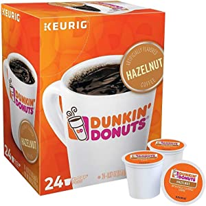 Dunkin' Donuts 2518071 Hazelnut Coffee K-Cup Pods Medium Roast 24/Box (400848)