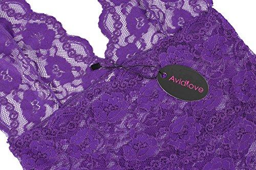 Avidlove - Salto de cama - para mujer morado