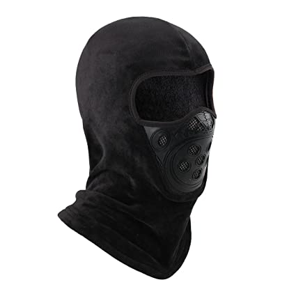 OMECHY Balaclava Windproof Ski Mask Outdoor Cold Weather Face Mask  Motorcycle Neck Warmer Tactical Hood d47f3e61b16