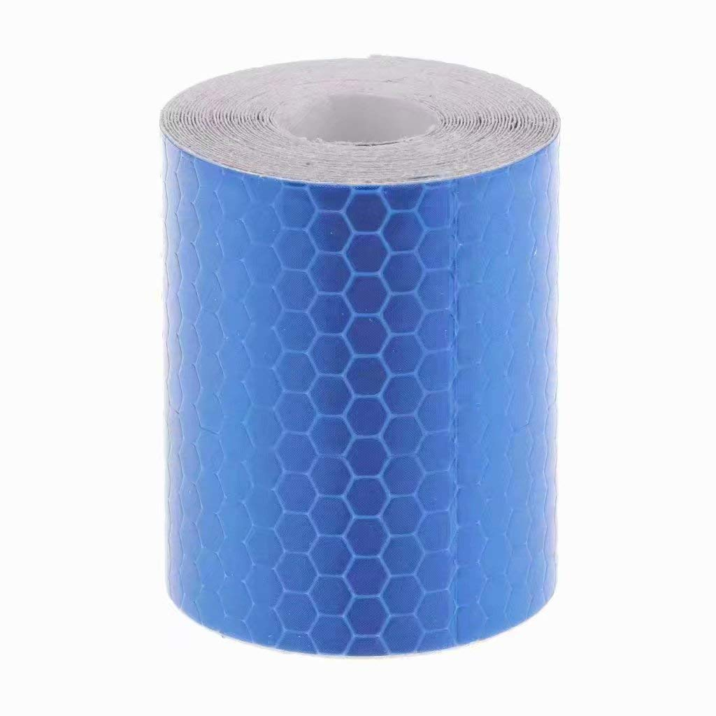 Haute Intensité Autocollant Ruban Réfléchissant Vinyle Auto-adhésif 5cm x 3m Jaune Générique