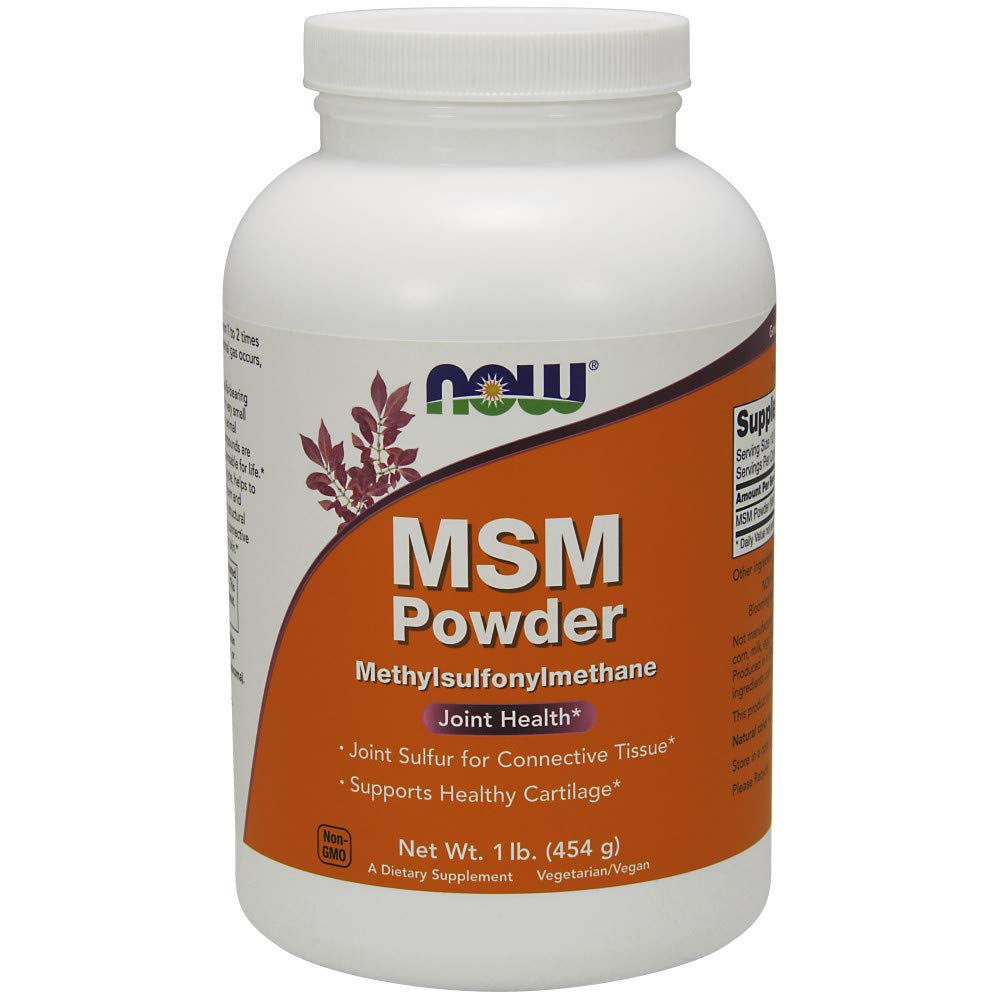 NOW Supplements, MSM (Methylsulfonylmethane) Powder, 16 Ounce by NOW Foods