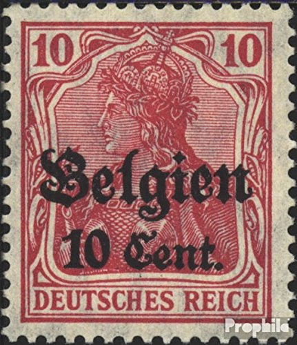 - German. Country Post in Belgium 14b 1916 Germania (Stamps for Collectors)