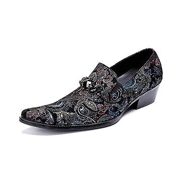 Tufanyu Zapatos de Vestir de Boda del Partido del Tobillo de los Hombres de la Personalidad Oxfords del Dedo del pie Genuino de la Personalidad para los ...