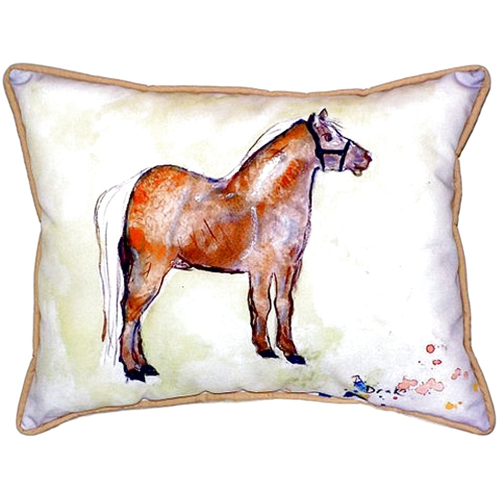 Betsy Drake SN935 Shetland Pony Pillow 11 x14