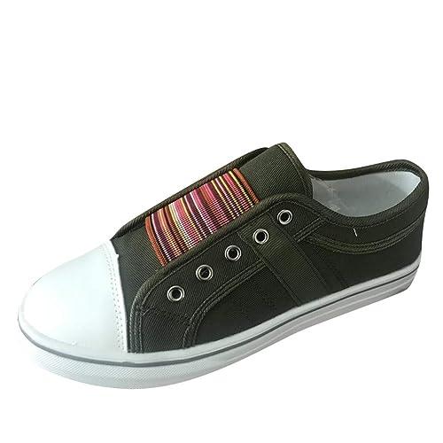 Scarpe Donna Eleganti Basse Sneakers A Punta Rotonda