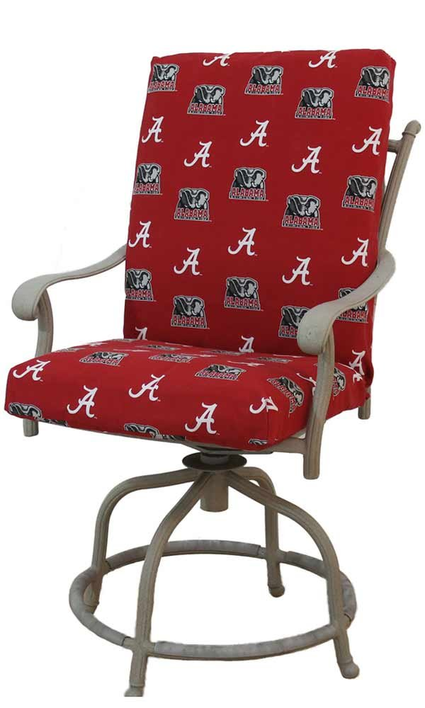 Alabama 2-Piece Chair Cushion by College Covers