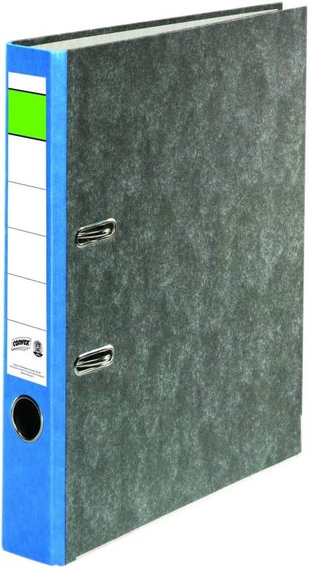 25 pezzi Convex 11289691 Raccoglitore A4 con dorso di 5 cm colore: Blu marmo