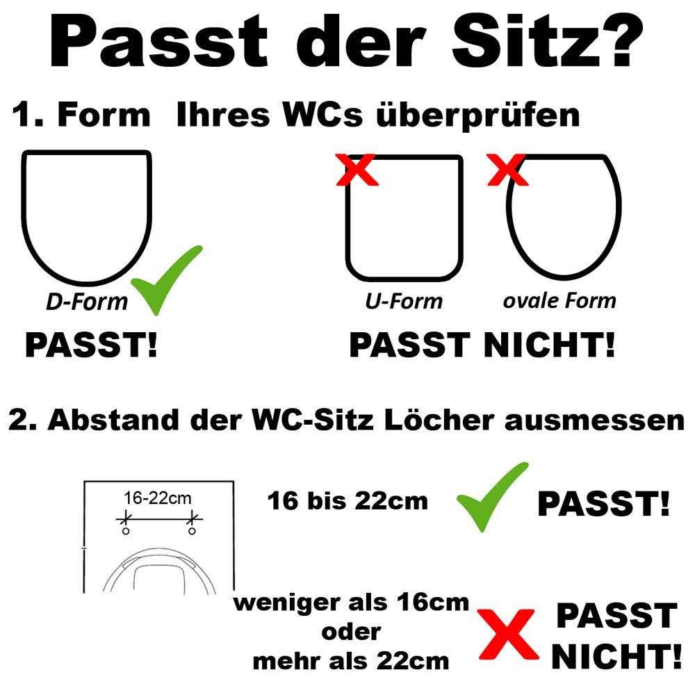 Gut bekannt WC Sitz für Kinder Familien Toilettensitz softclose Family, mit 3 KT21