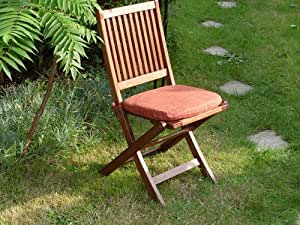 Garden Chair Cushion - Terracotta