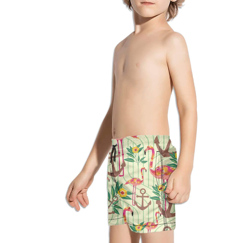 Landayboys Boys Summer Swim Trunks Beach Shorts Bernese Mountain Dog Easter Egg Bunny Quick Dry Swim Trunks