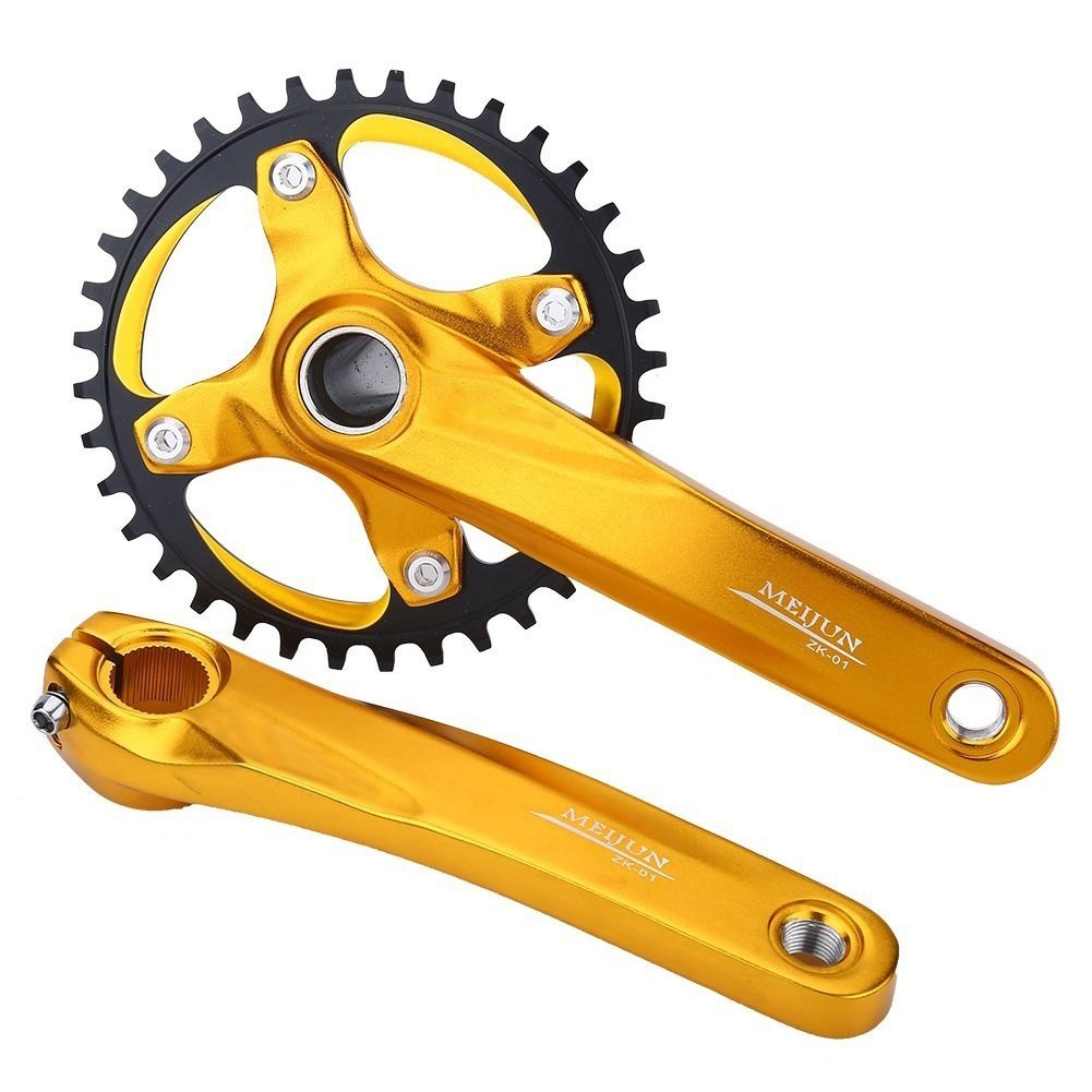 Fahrrad Kurbelgarnitur Single 1 fach BCD 104 mm 170mm Mountain Bike Alu Kurbelsatz für Shimano Sram Sunrun