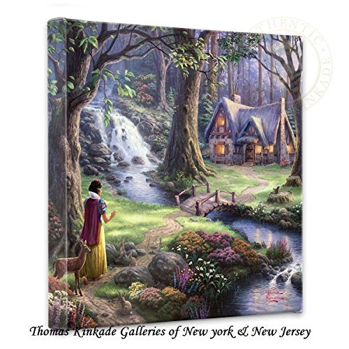 Thomas Kinkade Snow White Discovers Gallery Wrap Canvas (Cottage Kinkade Print Thomas Christmas)