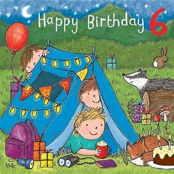 Twizler Geburtstagskarte Zum 6 Geburtstag Fur Jungen