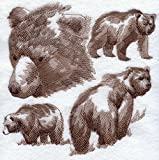 Bear Custom Embroidered Sweatshirt Shirt