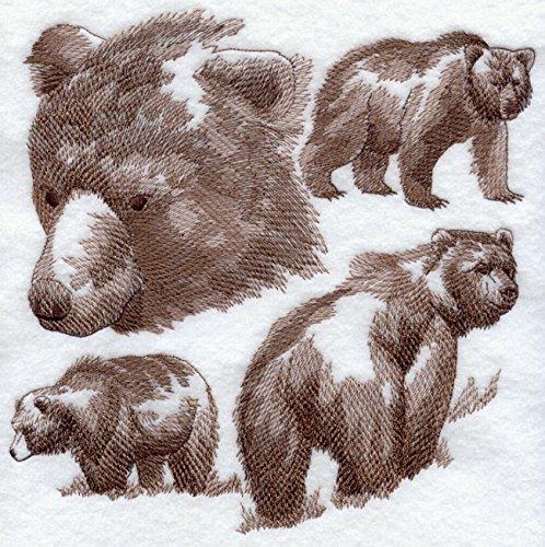 Bear Custom Embroidered Sweatshirt Shirt by SewUnusuals