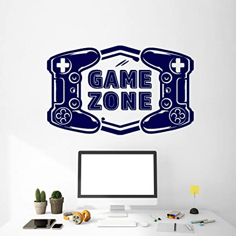 Game Zone Vinilo Tatuajes de pared Sala de juegos Video Joystick ...