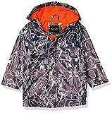 iXtreme Toddler Boys Hooded Waterproof Rain Slicker Jacket, Navy, 4T