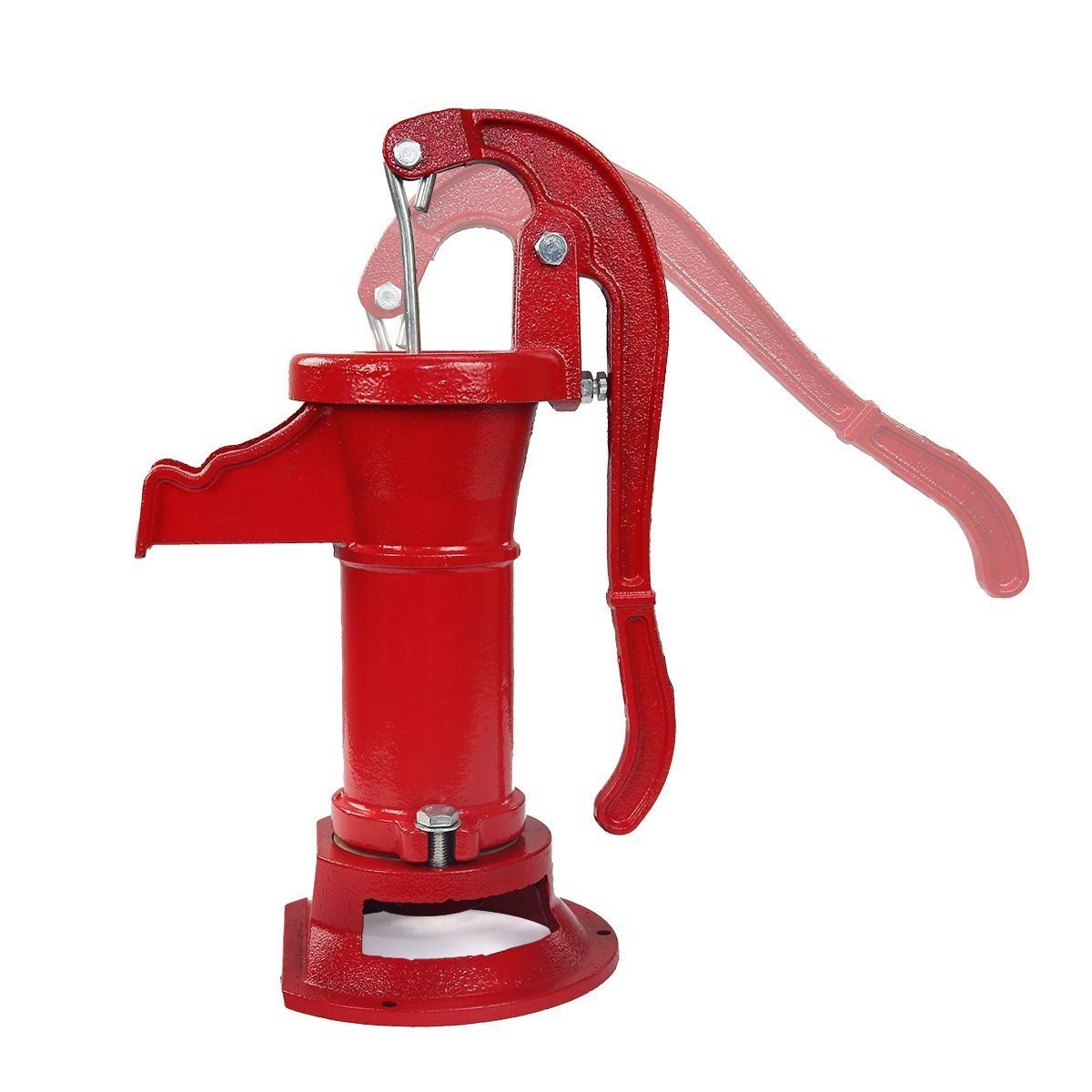 COLIBROX--New Antique Style Heavy Duty Cast Iron Red Well Hand Operated Pitcher Pump 25 Ft. Designed for rugged long life service All parts are made from close grain cast iron for optimum strength. by COLIBROX (Image #5)