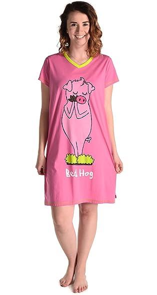 a18189174a LazyOne Women s V-Neck Nightshirts Cute Pajamas Night Shirt + Sizes S M and