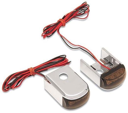 Alloy Art Fender Strut LED Marker Lights - Raw with Red LED - Smoke Lens  SSL-2R