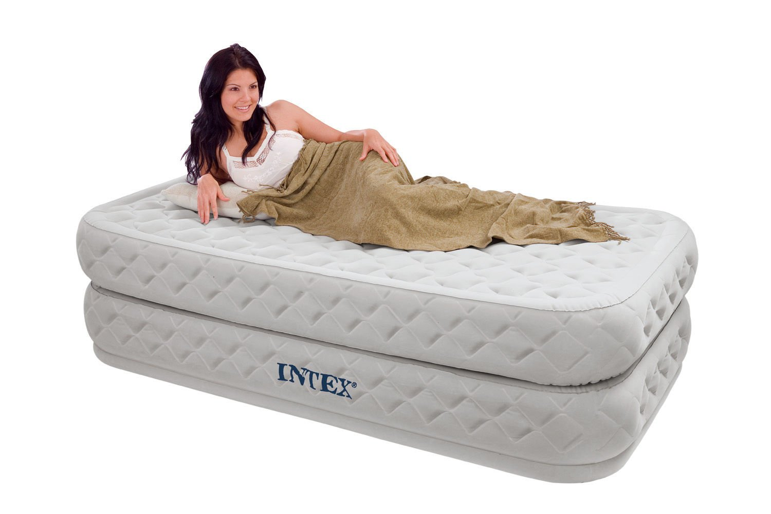 GREAT TWIN BED AIR MATTRESS WITH BUILT IN PUMP - A UNIQUE DESIGN PROVIDES THE ULTIMATE COMFORT FOR LUXURIOUS SLEEP