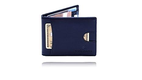 288ce2e9decfb Korbani® Premium Geldbeutel mit Geldklammer   Münzfach-Geldbörse -Kartenfächer-Herren-Portemonnaie