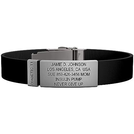 Amazon com: Road ID - Official Diabetes Bracelets - The