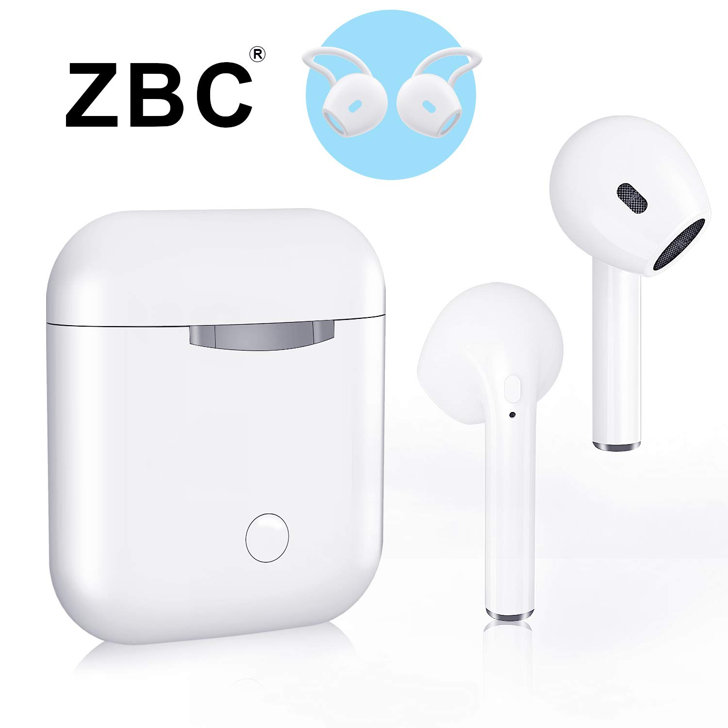 ZBC Wireless Earbuds I9 Bluetooth Earphones V5.0 Headphones in-Ear TWS Headsets Auto-Pair Airpods Mic Charging Case Sport Running Mini True Stereo Sound Noise Reduction Compatible iOS Android Samsung by ZBC (Image #1)