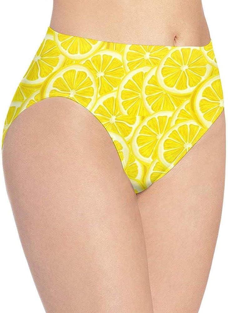 NA Hipster de Mujer Bragas Breves Fondo de limón en rodajas Ropa Interior de Estiramiento Suave de Vector: Amazon.es: Ropa y accesorios