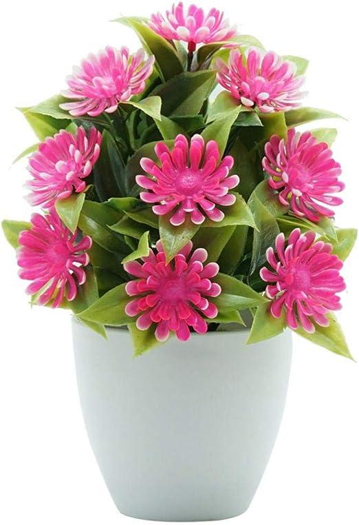 Sytauuan Flor artificial, bonsái, jardín, boda, fiesta, oficina, hogar, escritorio, decoración, color rosa: Amazon.es: Hogar