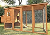 """Pets Imperial Arlington Chicken Coop With Extra Long Run 8ft 2"""" & Asphalt Roof Suitable For 4/6 Birds Depending On Size"""
