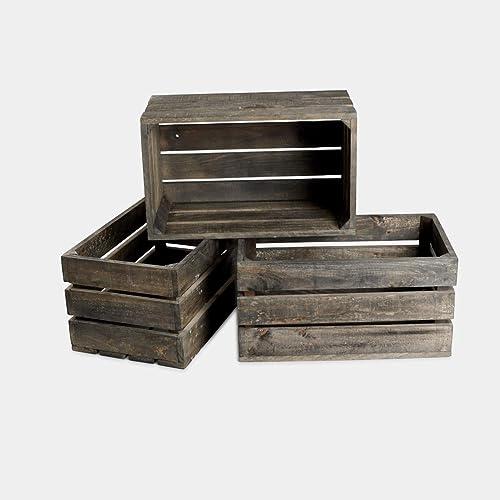oferta rebajas lote conjunto packde 3 cajas cajon de madera ...