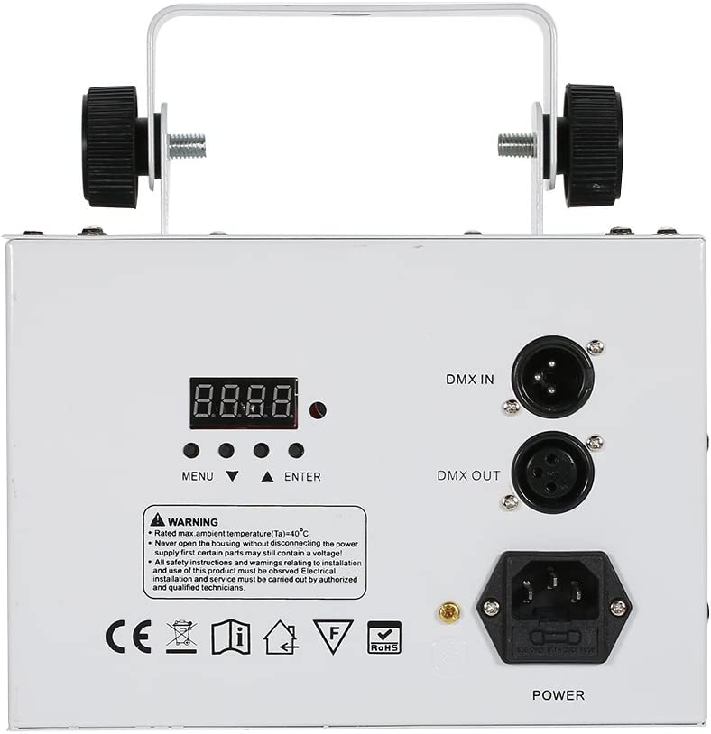 Lyre Led contr/ôl/é par t/él/écommande Lixada 24W RGBW disco eclairage soiree,100-240V 7 Canaux Vocale commande//Contr/ôle automatique//R/églage de la vitesse//Flash stroboscopique//DMX 512