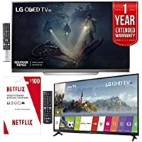 LG OLED55E7P 55 E7 OLED 4K TV With Bonus 55UJ6300 55 4K Smart TV Plus Free $100 Netflix Card and 1 Year Extended Warranty