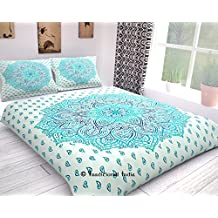 Traditional- Indian Mandala Double Reversible Duvet Quilt Cover Twin Bedding Ethnic Bohemian Throw Comforter Cover