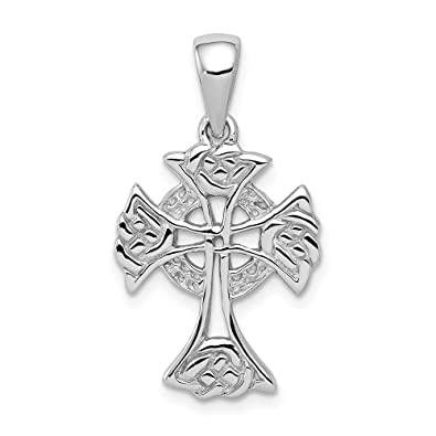 59d494a46 Amazon.com: 925 Sterling Silver Irish Claddagh Celtic Knot Cross Religious Pendant  Charm Necklace Iona Fine Jewelry Gifts For Women For Her: Jewelry