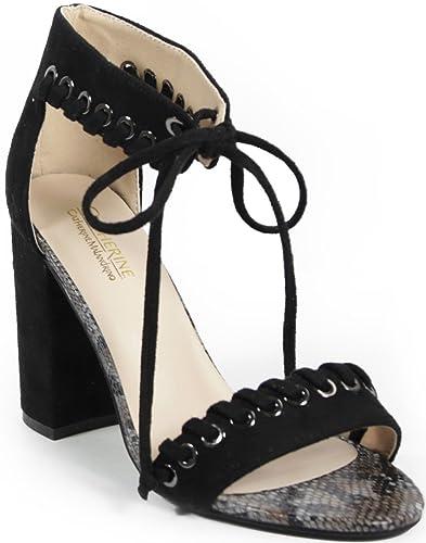 Catherine Catherine Malandrino Strake Lace-Up Block Heel Sandal PKVYA