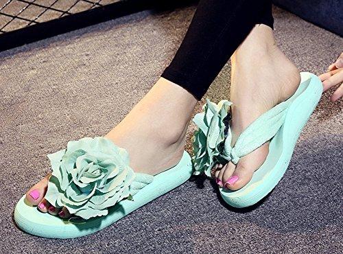 Tongs Vert Aisun Fleurs Flops Antidérapant Femme Mode 8nwZUqXZx4