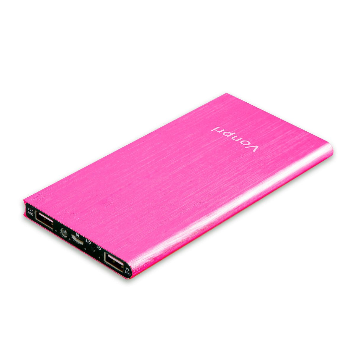 Vonpri mah Batería Externa Portátil Cargador Móvil Power Bank para iPhone iPad