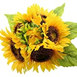 AmyHomie Artificial flowers, Artificial Sunflowers, Fake Flowers for Wedding Decoration