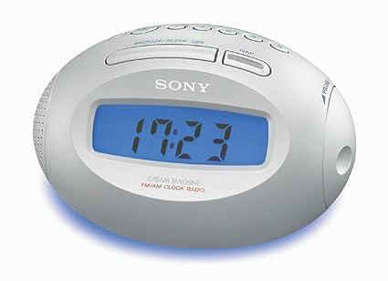 Sony ICF-C743 Reloj Digital Azul, Plata - Radio (Reloj, LCD,