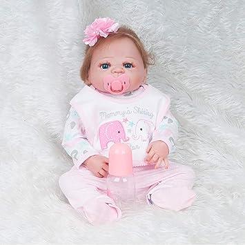 JZM Bebé Recién Nacido Muñeca, 22 Pulgadas Durmiendo Suave Slicone ...